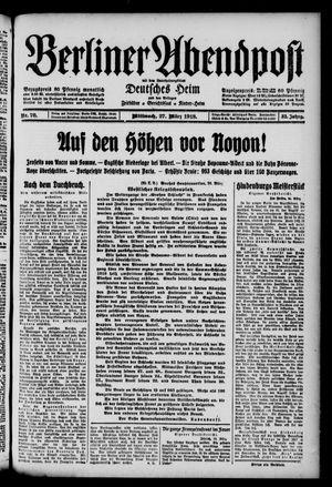 Berliner Abendpost on Mar 27, 1918