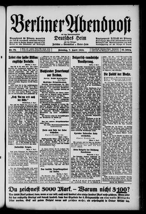 Berliner Abendpost on Apr 7, 1918