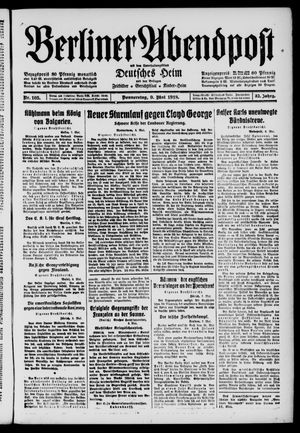 Berliner Abendpost on May 9, 1918
