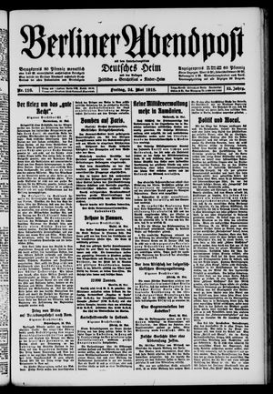 Berliner Abendpost on May 24, 1918