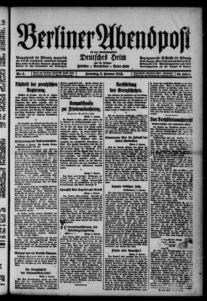 Berliner Abendpost on Jan 5, 1919