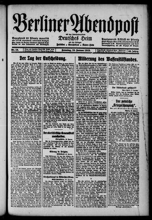 Berliner Abendpost on Jan 19, 1919
