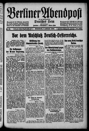 Berliner Abendpost on Feb 8, 1919