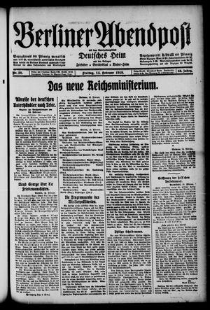 Berliner Abendpost on Feb 14, 1919