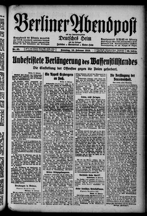 Berliner Abendpost on Feb 16, 1919