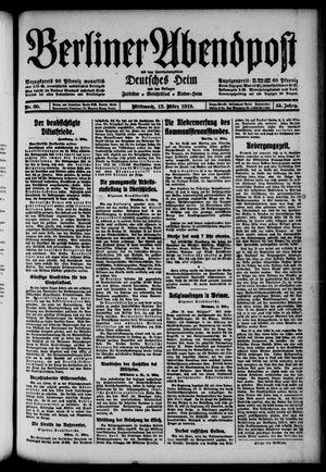 Berliner Abendpost on Mar 12, 1919