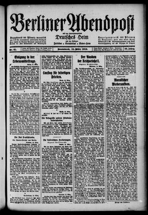 Berliner Abendpost on Mar 15, 1919