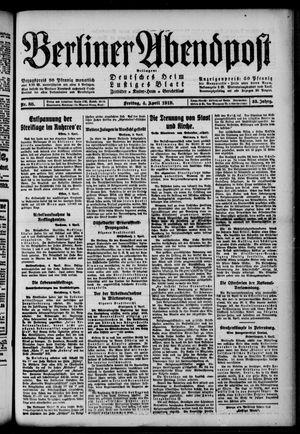 Berliner Abendpost on Apr 4, 1919