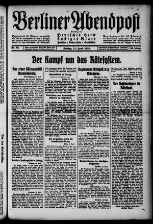 Berliner Abendpost on Apr 11, 1919