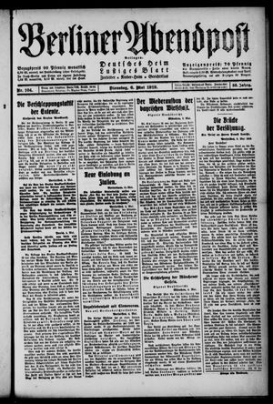 Berliner Abendpost on May 6, 1919