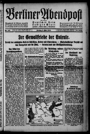 Berliner Abendpost on May 9, 1919
