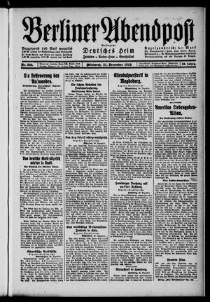 Berliner Abendpost vom 31.12.1919