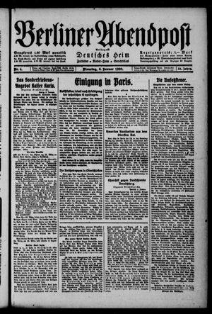 Berliner Abendpost on Jan 6, 1920