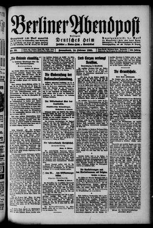 Berliner Abendpost on Feb 14, 1920