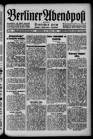 Berliner Abendpost on Feb 21, 1920