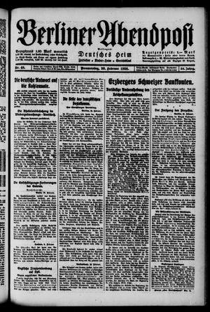 Berliner Abendpost on Feb 26, 1920