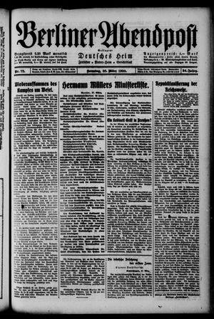 Berliner Abendpost on Mar 28, 1920