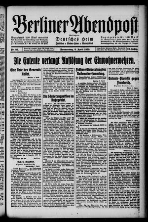 Berliner Abendpost on Apr 8, 1920