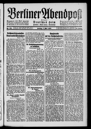 Berliner Abendpost on May 7, 1920