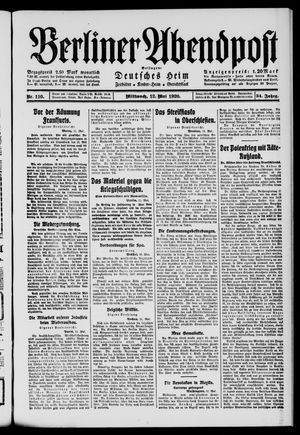 Berliner Abendpost on May 12, 1920