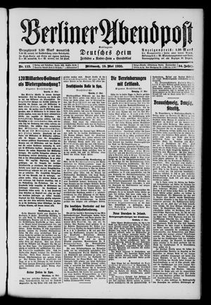 Berliner Abendpost on May 19, 1920