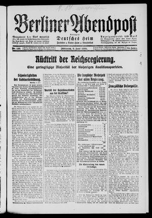 Berliner Abendpost on Jun 9, 1920