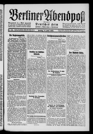 Berliner Abendpost on Jun 11, 1920