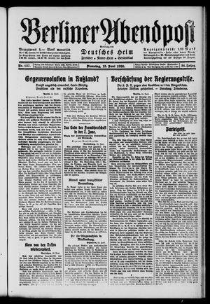 Berliner Abendpost on Jun 15, 1920