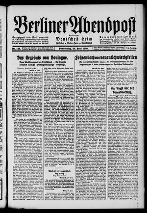 Berliner Abendpost on Jun 24, 1920