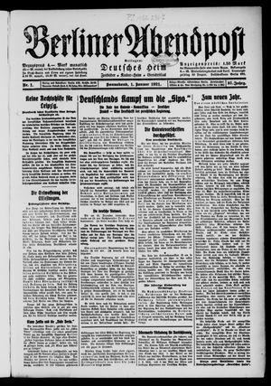Berliner Abendpost vom 01.01.1921