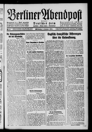 Berliner Abendpost vom 05.01.1921