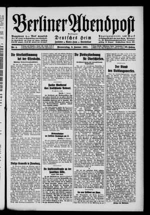 Berliner Abendpost vom 06.01.1921