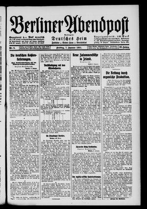 Berliner Abendpost vom 07.01.1921