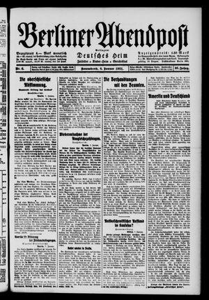 Berliner Abendpost vom 08.01.1921