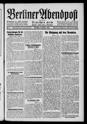 Berliner Abendpost vom 09.01.1921