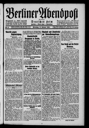 Berliner Abendpost vom 11.01.1921