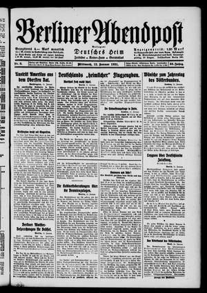 Berliner Abendpost vom 12.01.1921