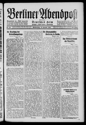 Berliner Abendpost vom 13.01.1921