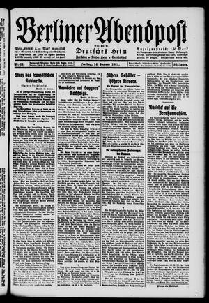 Berliner Abendpost vom 14.01.1921