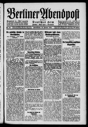 Berliner Abendpost vom 15.01.1921
