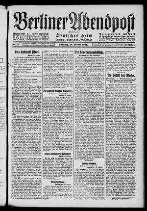 Berliner Abendpost vom 16.01.1921