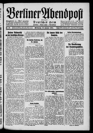Berliner Abendpost vom 19.01.1921