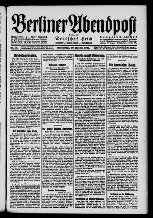 Berliner Abendpost vom 20.01.1921