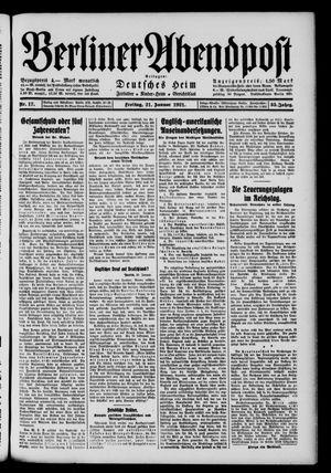 Berliner Abendpost vom 21.01.1921