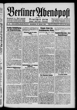 Berliner Abendpost vom 22.01.1921