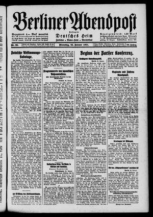 Berliner Abendpost vom 25.01.1921