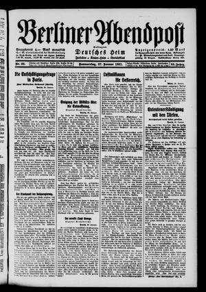 Berliner Abendpost vom 27.01.1921