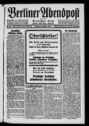Berliner Abendpost vom 28.01.1921