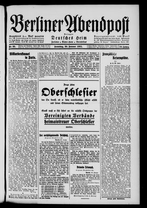 Berliner Abendpost vom 30.01.1921