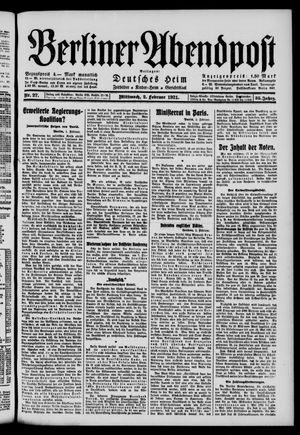 Berliner Abendpost vom 02.02.1921